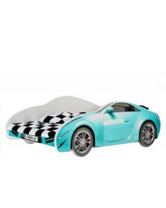 Autós gyerekágy MATRACCAL (140 X 70 kék)