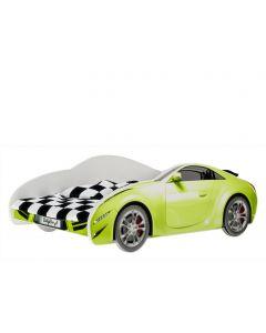 Autós gyerekágy MATRAC NÉLKÜL (160 X 80 zöld)